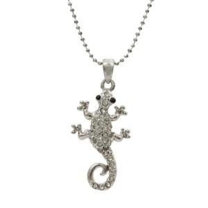 Small Lizard Pendant Necklace