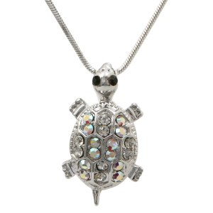 Crystal Turtle Pendant Necklace