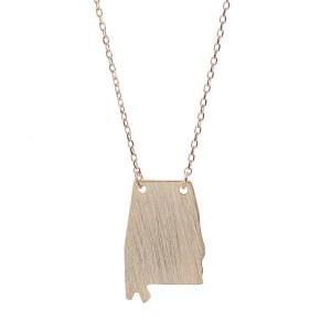 Alabama Pendant Necklace Gold