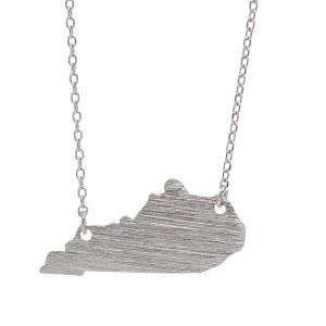 Kentucky Pendant Necklace Silver