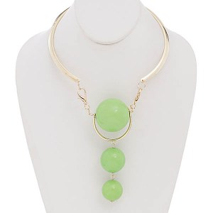 Three Ball Choker Lime Green