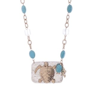Two Tone Sea Tortoise Necklace