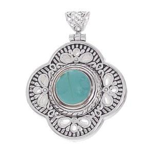 Clover Pendant Turquoise