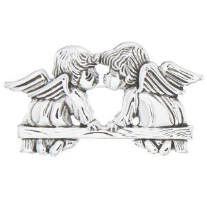 Kissing Angels Pendant/Pin