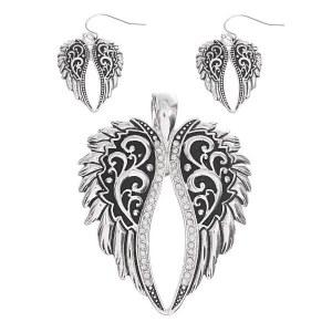 Angel Wings Pendant Set