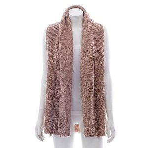 Wool Blend Open Vest Dusty Pink