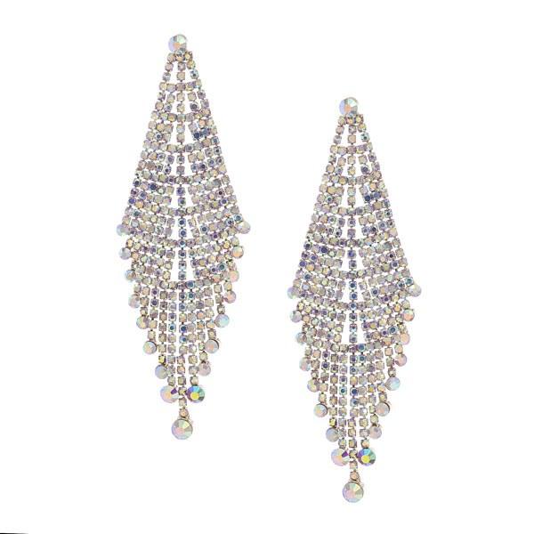 Chandelier Earrings Iridescent Gold