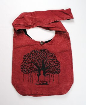 Red Tree of Life Shoulder Bag