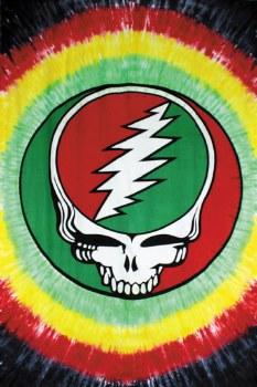Grateful Dead Steal Your Face Rasta Tapestry