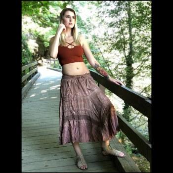 Pigment Rayon Skirt Brown