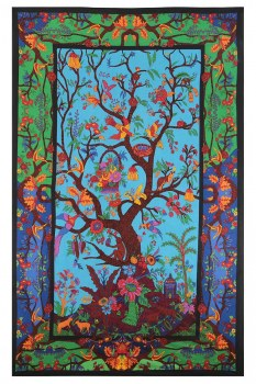 3D Color Tree of Life Tapestry