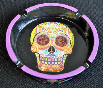 Colorful Day of the Dead Sugar Skull Ashtray