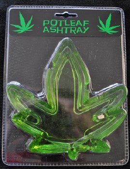 Glass Pot Leaf Ashtray