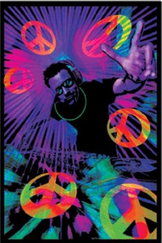 DJ Peace Black Light Poster