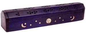 Violet Wood Coffin Incense Burner