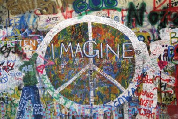 """36"""" x 24"""" Imagine Peace Rolled Poster"""