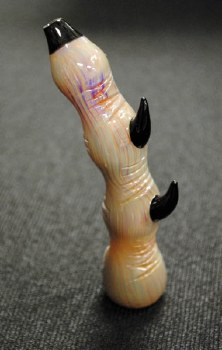 """5"""" Long Hand Blown Glass Dragon's Claw Pipe"""