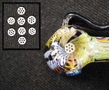 Honeycomb Hand Blown Glass Screen 2 Pack