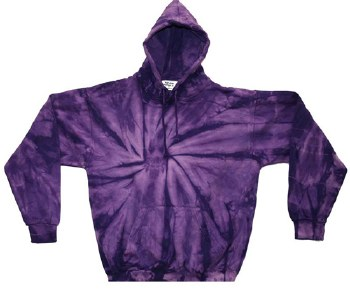 Tie Dye Pullover Hoodie Purple Spider Medium