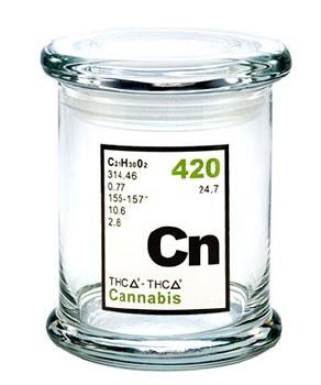 420 Science Pop Top Large Jar Cannabis