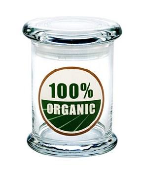 420 Science Pop Top Medium Stash Jar 100% Organic