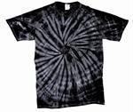 Tie Dye Medium T-Shirt Black Spider