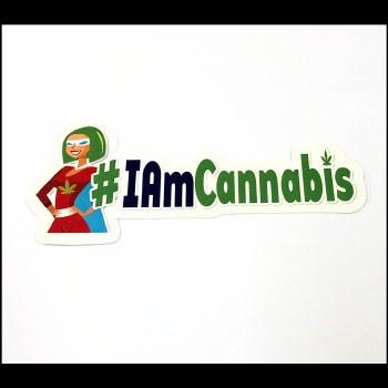 I am Cannabis Sticker