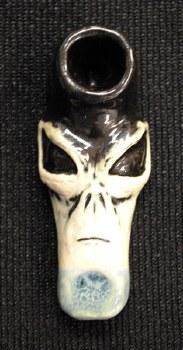 Alien Face Ceramic Hand Pipe