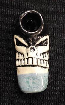 Small Skull Ceramic Hand Pipe