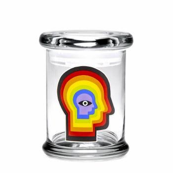 420 Science Pop Top Stash Jar Small Rainbow Mind