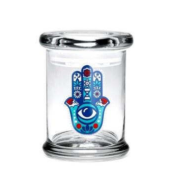 420 Science Pop Top Large Jar Third Eye Hamsa