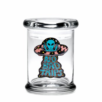 420 Science Pop Top Stash Jar Small No Bad Trips