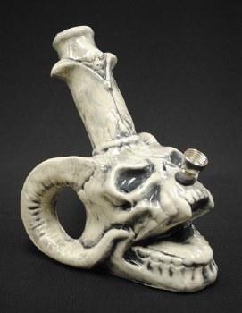 Horned Skull Ceramic Water Pipe