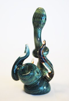 """5"""" Tall Hand Blown Sherlock with Horns and Beadwork"""