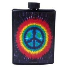 5oz Tie Dye Peace Flask