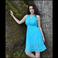 Lace Babydoll Top Turquoise