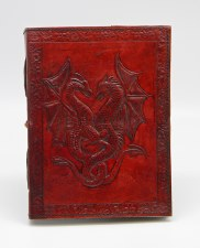 Double Dragon Leather Embossed Writing Journal