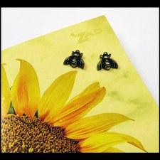 Gold Post Bubble Bee Earings