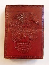 Day of the Dead Leather Embossed Writing Journal