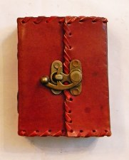 Leather Writing Journal with Large Lock