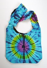 Blue Tie Dye Shoulder Bag