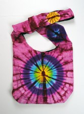 Pink Purple Tie Dye Shoulder Bag