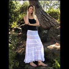 Tier Layered Skirt White