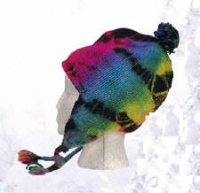 Tie Dye Fleece Lined Wool Flap