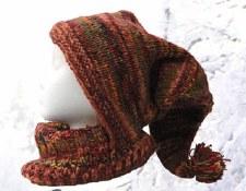 Fleece Lined Wool Long Pointed