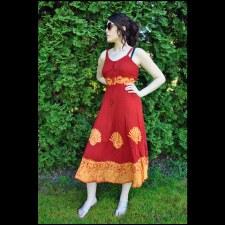 Long Corset Dress Red