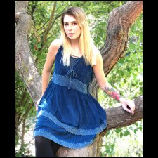Corset Baby Doll Top Blue