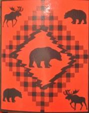 Red Bear Cozy Fleece Throw