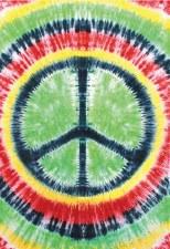 Rasta Peace Sign Tie Dye Tapestry