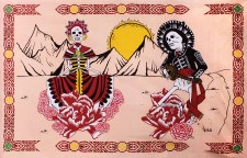 Day of the Dead Dance Tapestry